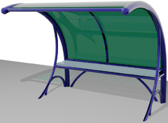 ARTOTEC Bench with shelter CYCLOBIK