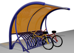 ARTOTEC Cycle stand with shelter CYCLOBIK