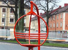 Rotating chair ZICKI at Mariaplan public place, Gothenburg, Sweden