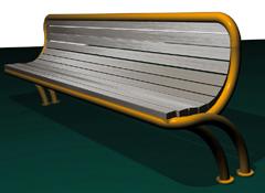 Banc bois et métal, dossier ergonomique DIRECT-ERGONOMIC