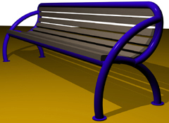 Banc bois et métal, dossier et accoudoir ergonomique R-YOU