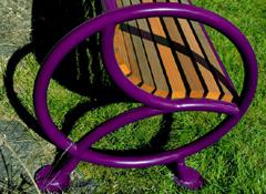 Banc bois et métal, dossier et accoudoir ergonomique WAITING-POINT