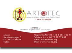 Carte de visite ARTOTEC